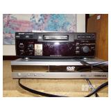Sharp md recorder and Daewoo dvd and speakers