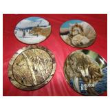Lot of 4 Wolf Collector Plates