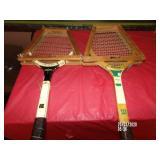 2 Vintage Tennis Raquets