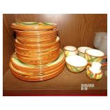 39 Piece Vernonware Homespun China Set