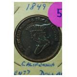 1849 $20 California Token