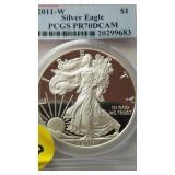 2011-W Silver Eagle PCGS PR 70 dcam