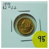 1898 $2.50 Gold Liberty