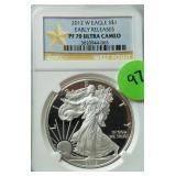 2012-W Silver Eagle PF70 Ultra Cameo