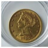 1897 $5 Gold Coin