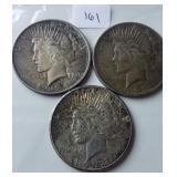 Lot of 3 Peace Dollars