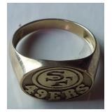 10k Gold San Francisco 49ers Ring