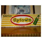 "60"" x 20"" Uptown Drink Advertising Sign Metal"