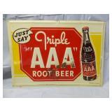 Vintage Triple AAA Root Beer Metal Sign