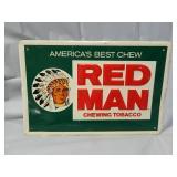 "Vintage 18"" x 12"" Redman Metal Sign"