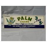 """19"""" x 6.5"""" Original Palm Cigar Metal Sign"""