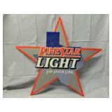"34"" x 31"" Lonestar Light Beer Sign Metal"