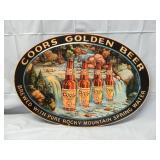 """30"""" x 21"""" Coors Golden Beer Sign Metal"""