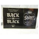"24"" x 15"" Shiner Bohemian Lager Beer Sign Metal"
