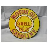 "Newer 12"" Shell Metal Sign"