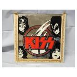 "Vintage 12"" x 12"" Kiss Mirror"