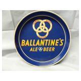 """12"""" Vintage Ballantines Ale & Beer Tray"""