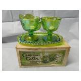 Vintage Indiana Glass Carnival Set