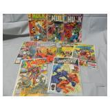 Lot of 9 Comics Daredevil Hulk Spiderman