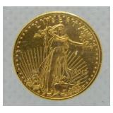 2012 $5 Gold Coin 1/10 oz Fine Gold