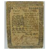 1776 20 Shillings Pennsylvania Note