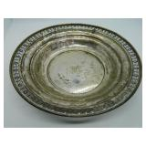 "Large 9.5"" Antique Sterling Silver Bowl"