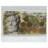 9 Decades of Lincoln Cent Collection