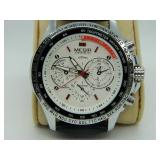 NEW Megir Chronograph M:1010 White Dial Watch