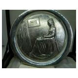 Sterling 72 Washington Mint Mother Day Plate 10oz