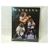 """20"""" x 16"""" Framed Mankind Poster Wrestling"""