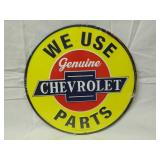 "12"" Round Metal Chevrolet Sign"