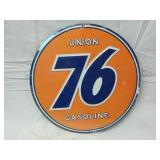 "12"" Round Metal Union 76 Sign"