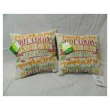2 New 16x16 Indoor or outdoor Throw Pillows