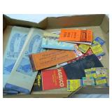 Vintage lot of Old Post Cards Matches & More