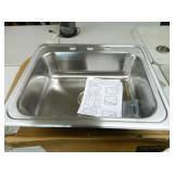 New Elkay Stainless Steel Sink 25x21