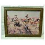 14X18 Framed Western print