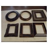 Lot of 6 small Picture Frames