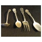 4 Pieces of Antique Sterling Flatware