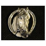 """1.5"""" Sterling Silver Horse Pin/Brooch"""