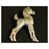 """Vintage 2"""" Tall Sterling Silver Horse Pin/brooch"""
