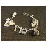 Sterling & Stainless Charm Bracelet
