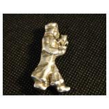 "Vintage 1.5"" Sterling Silver Pin/Brooch"