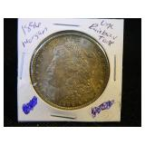 1896 Morgan Silver Dollar UNC Rainbow