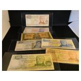 Lot of 7 Foreign Currency Notes