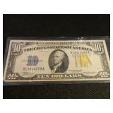 1935a Series Gold Seal $10 Note