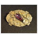 "Large 3.25"" Vintage Pin/Brooch"