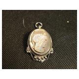 Antique Sterling Silver Roman Pendant