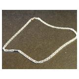"""17.5"""" Sterling Silver Necklace"""