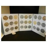 Lot of 11 Peace Dollars in Book