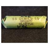 $5 Roll of 90% Silver Dimes